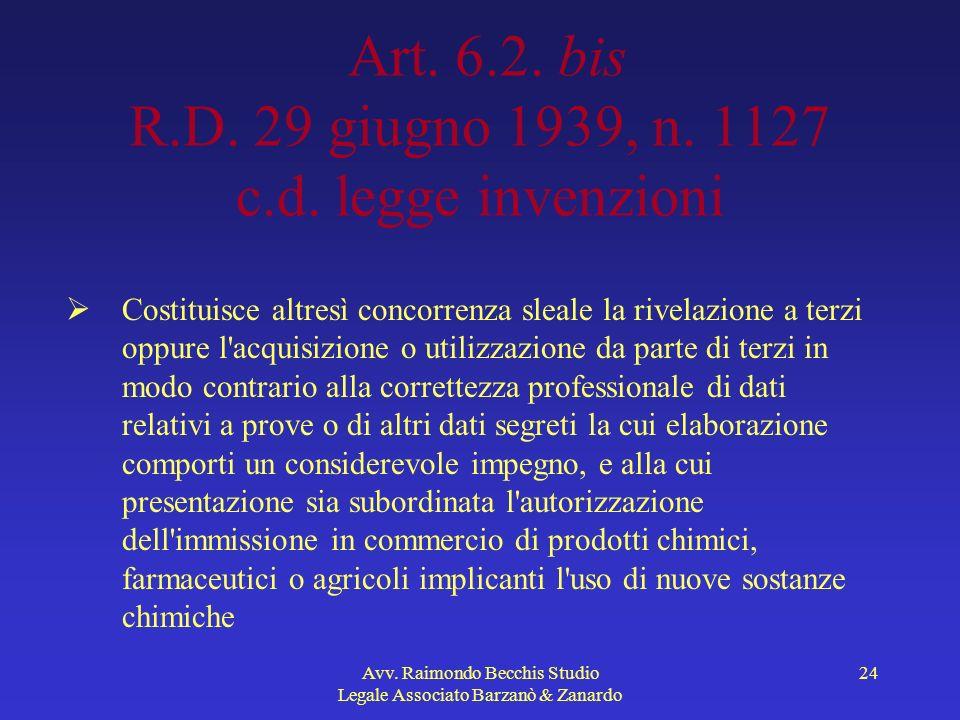 Art. 6.2. bis R.D. 29 giugno 1939, n. 1127 c.d. legge invenzioni