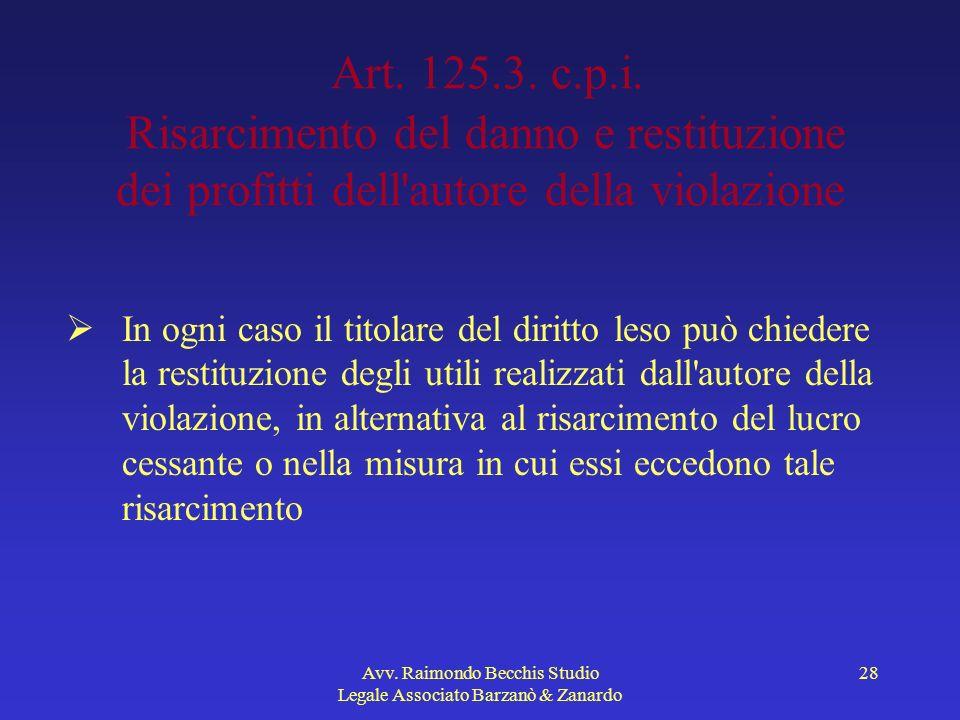 Avv. Raimondo Becchis Studio Legale Associato Barzanò & Zanardo