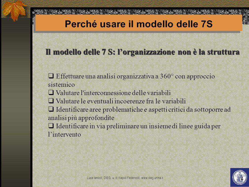 Perché usare il modello delle 7S