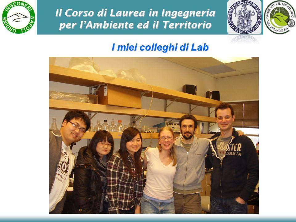 Il Corso di Laurea in Ingegneria per l'Ambiente ed il Territorio