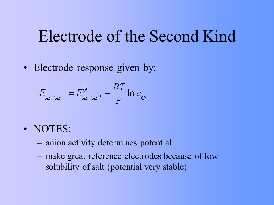 Electrode of the Second Kind