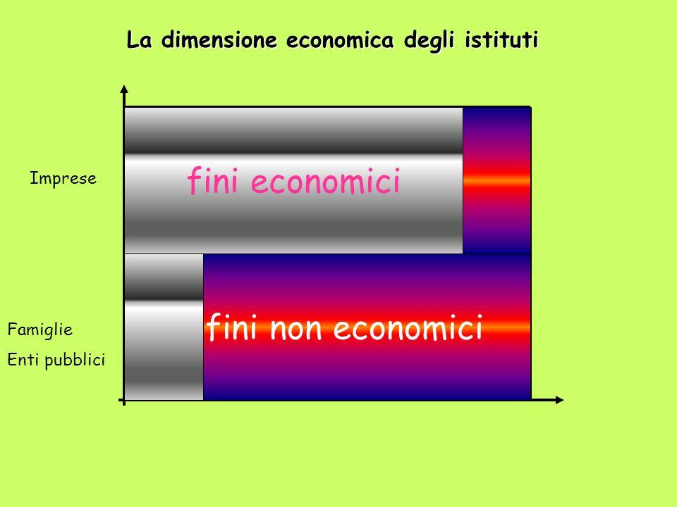 La dimensione economica degli istituti