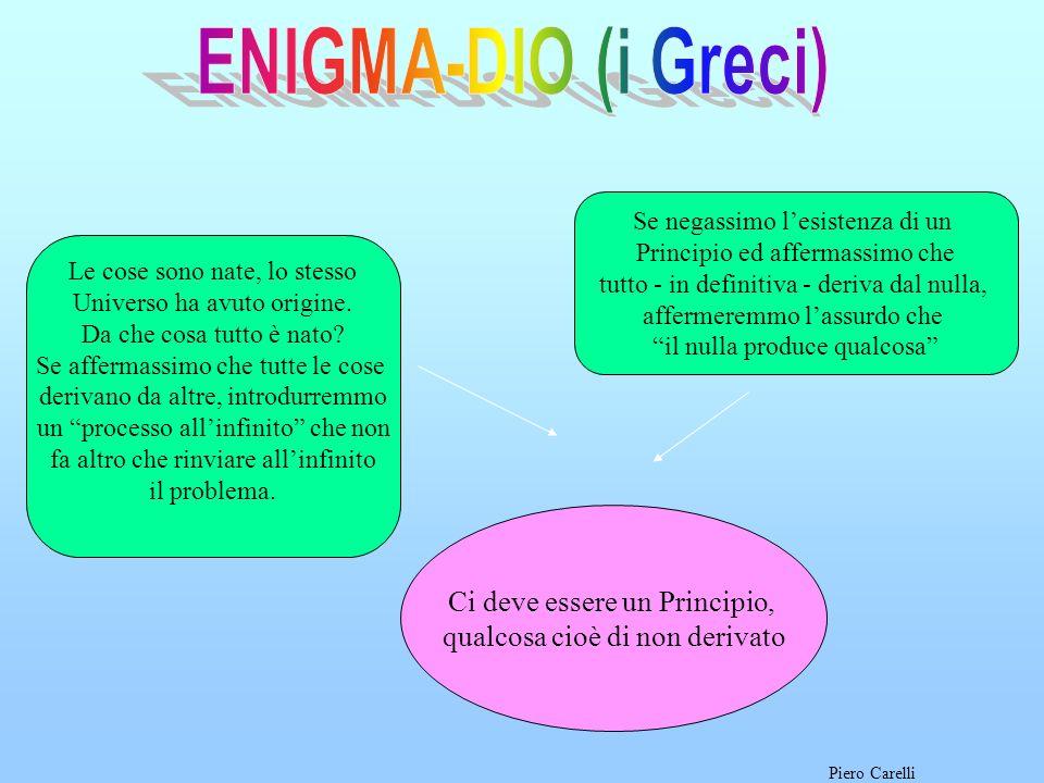 ENIGMA-DIO (i Greci) Ci deve essere un Principio,