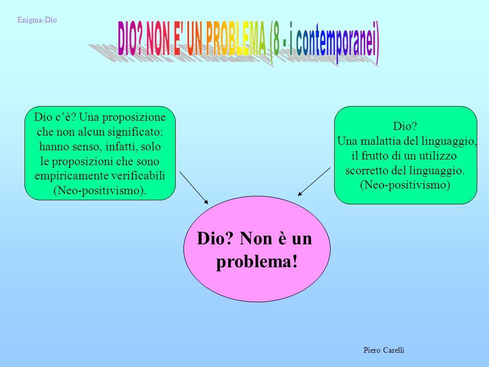 DIO NON E UN PROBLEMA (8 - i contemporanei)