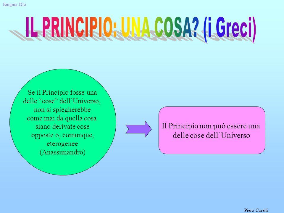 IL PRINCIPIO: UNA COSA (i Greci)