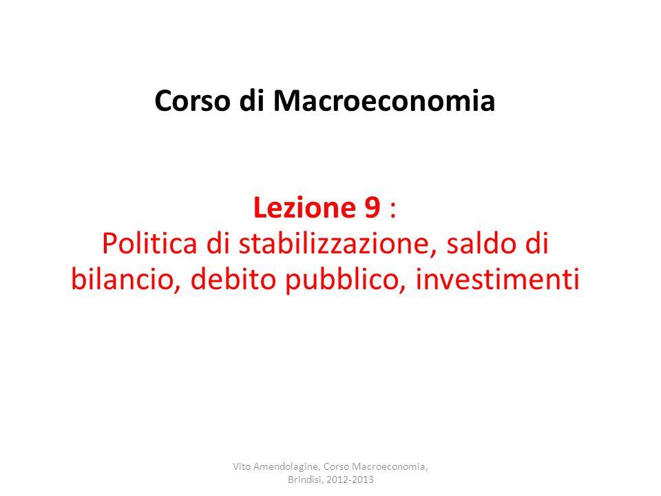 Vito Amendolagine, Corso Macroeconomia, Brindisi, 2012-2013