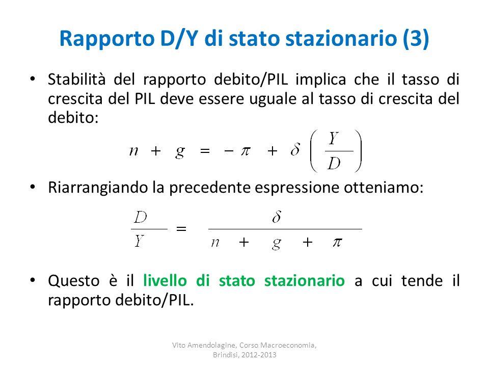 Rapporto D/Y di stato stazionario (3)