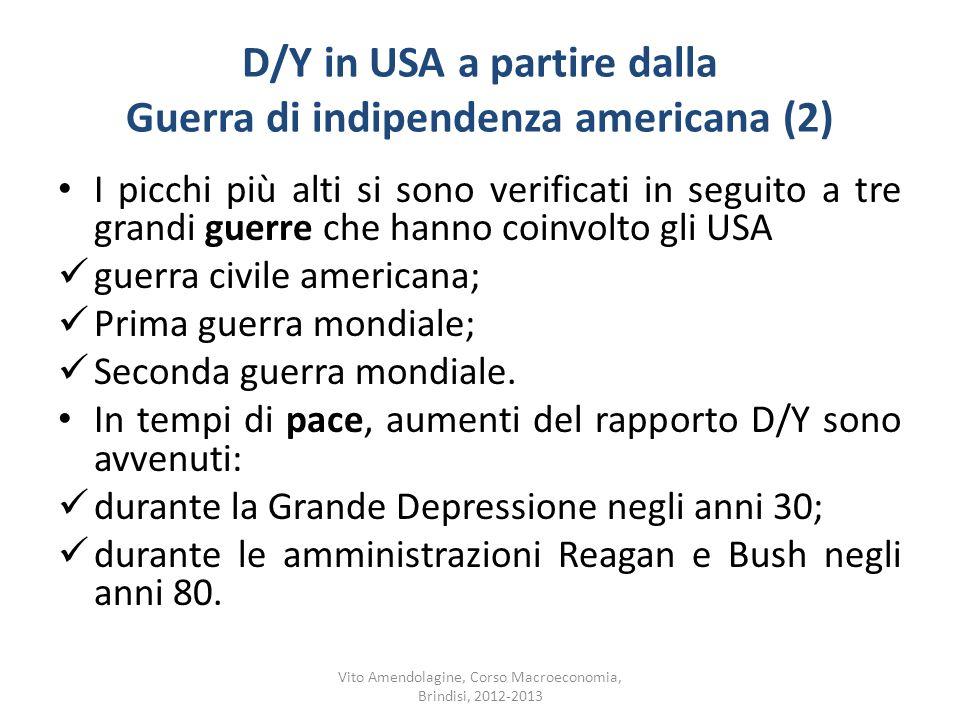 D/Y in USA a partire dalla Guerra di indipendenza americana (2)
