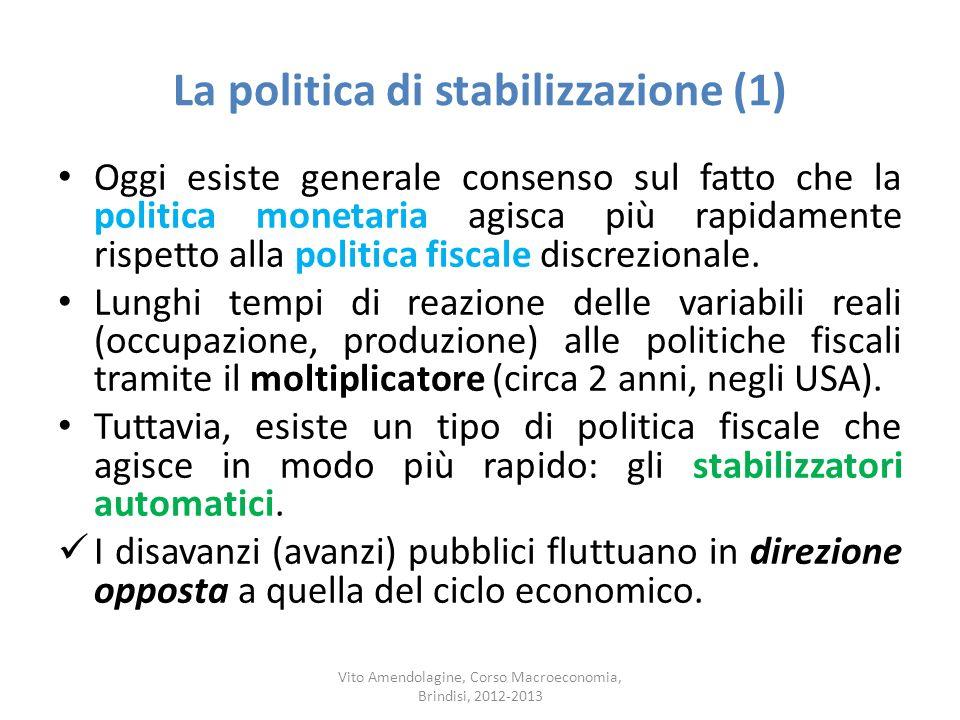 La politica di stabilizzazione (1)