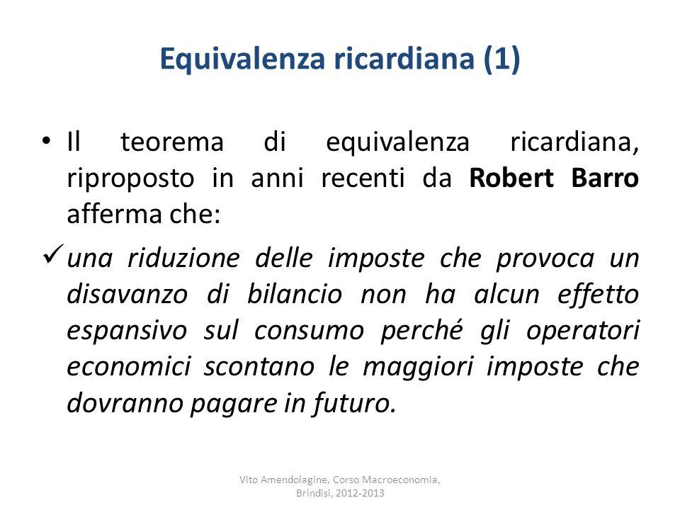 Equivalenza ricardiana (1)