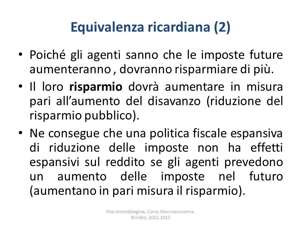 Equivalenza ricardiana (2)