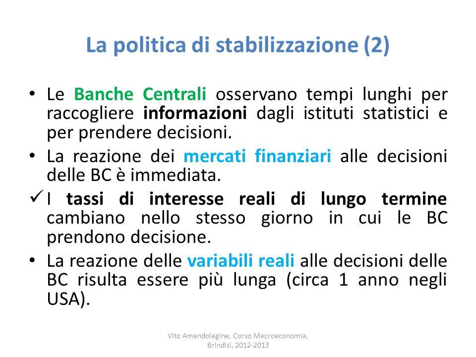 La politica di stabilizzazione (2)