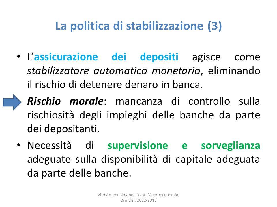 La politica di stabilizzazione (3)