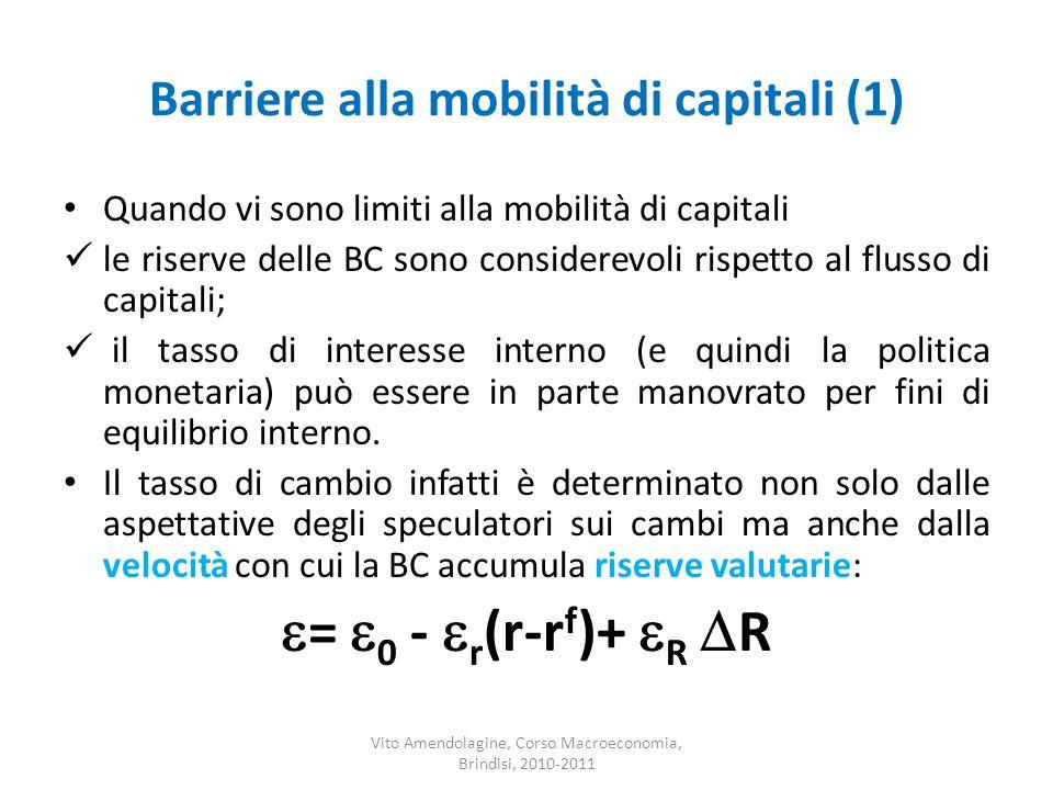Barriere alla mobilità di capitali (1)