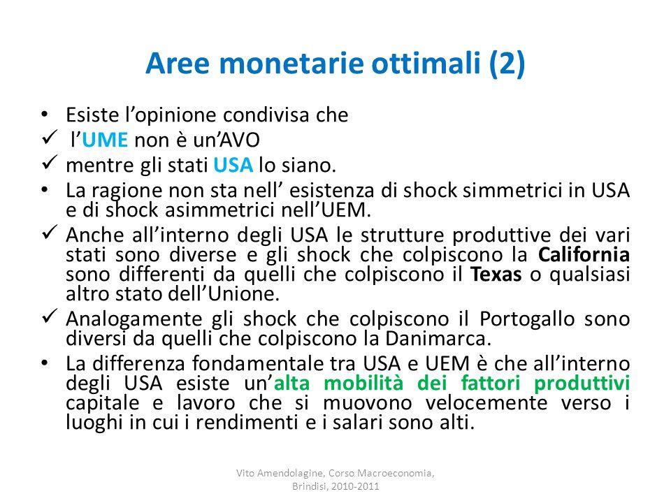 Aree monetarie ottimali (2)