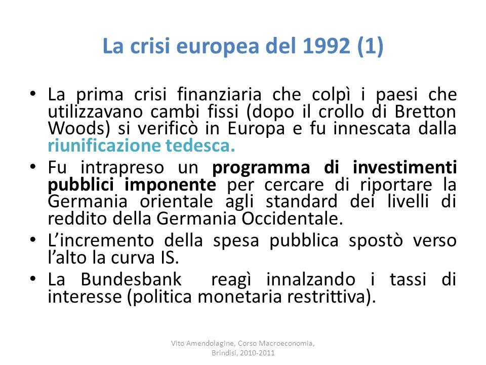 Vito Amendolagine, Corso Macroeconomia, Brindisi, 2010-2011
