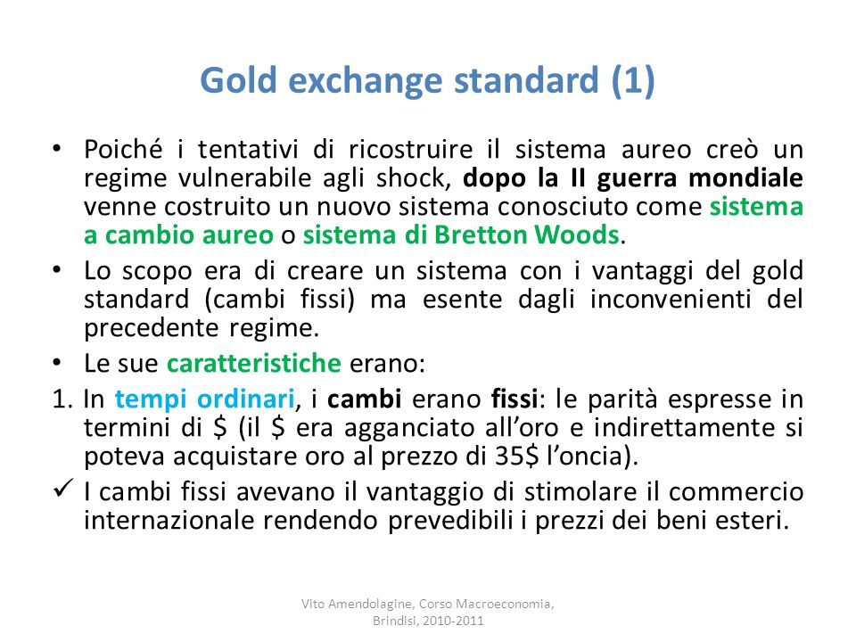 Gold exchange standard (1)