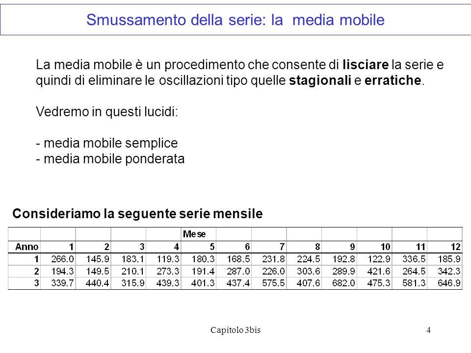 Smussamento della serie: la media mobile
