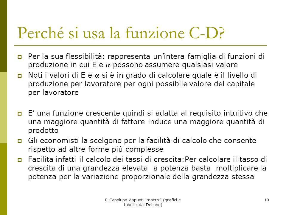 Perché si usa la funzione C-D