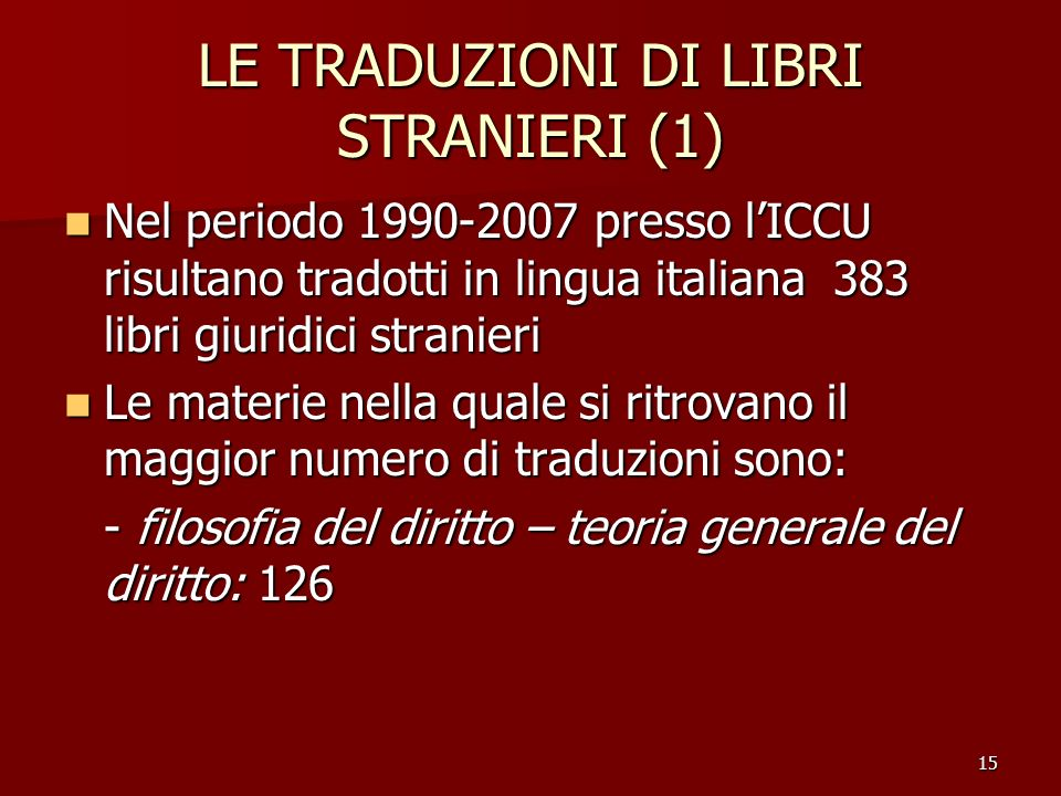 LE TRADUZIONI DI LIBRI STRANIERI (1)