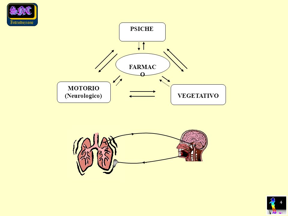 PSICHE MOTORIO (Neurologico) VEGETATIVO FARMACO 4