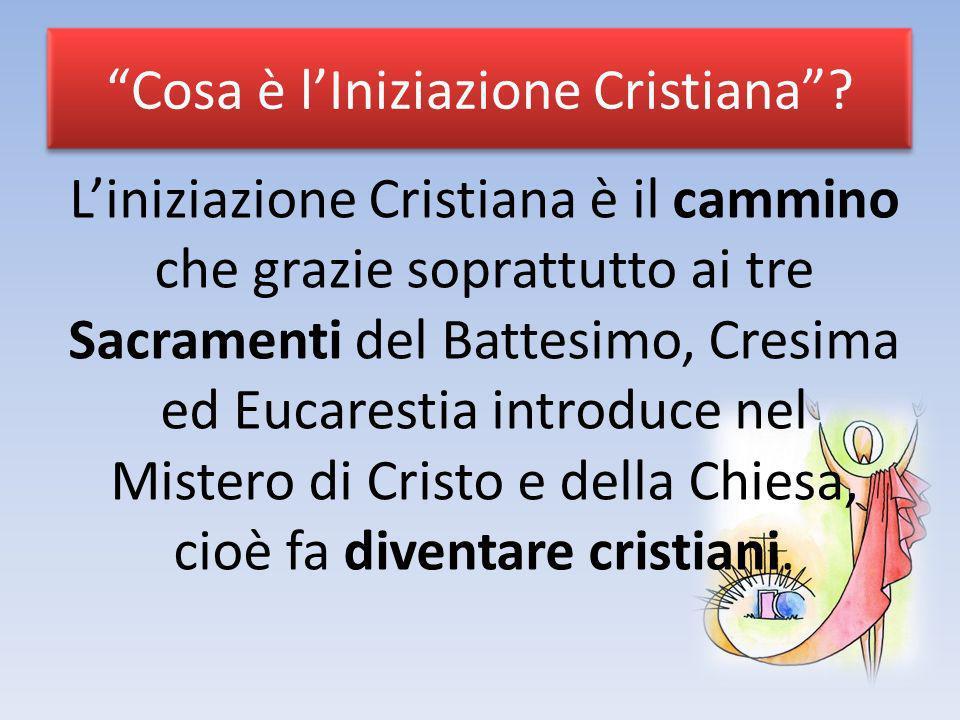 Cosa è l'Iniziazione Cristiana