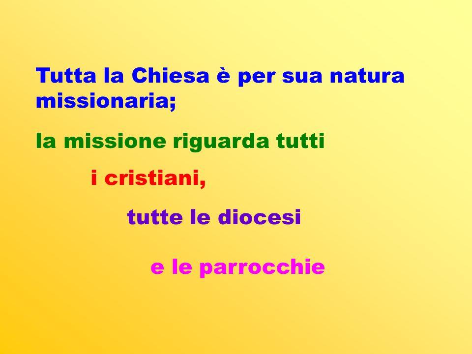 Tutta la Chiesa è per sua natura missionaria;