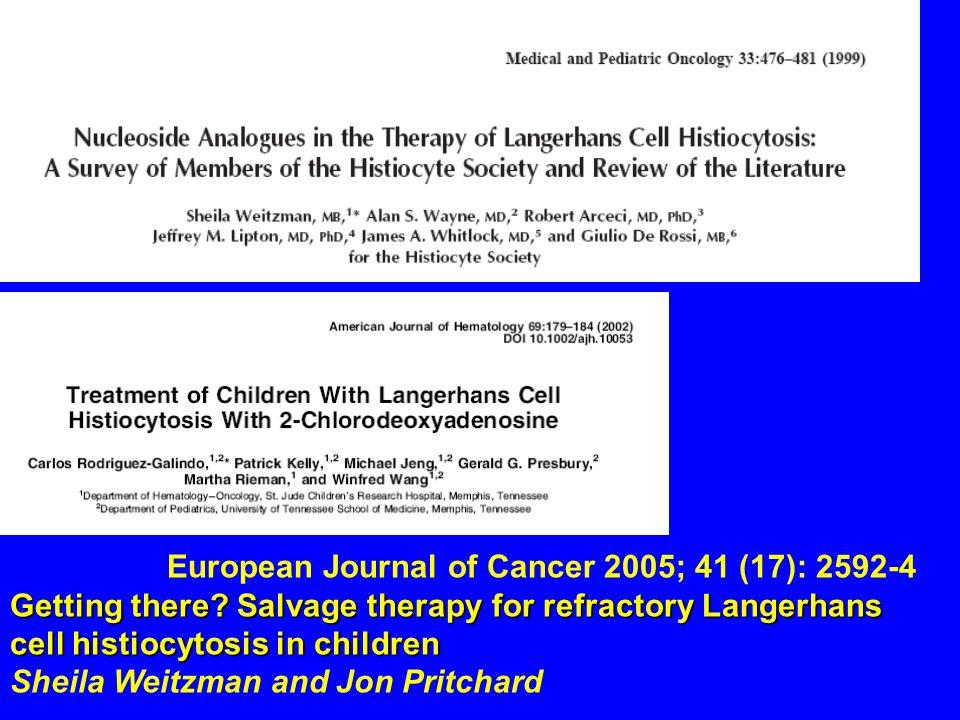 European Journal of Cancer 2005; 41 (17): 2592-4