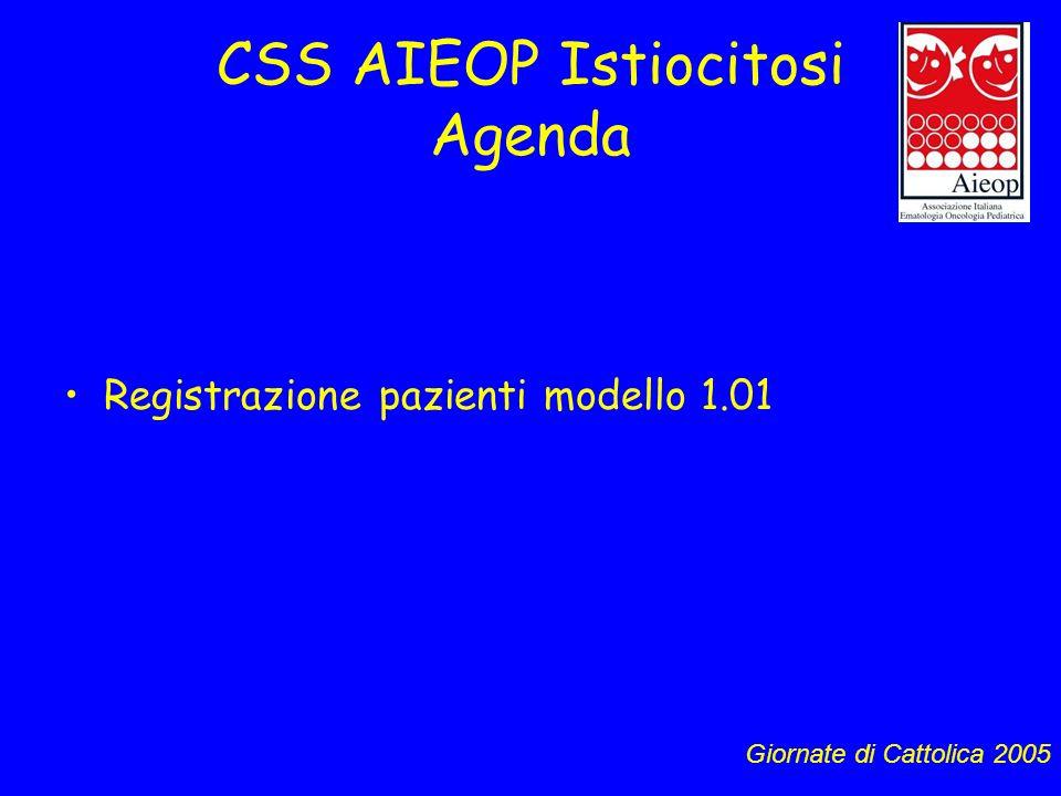 CSS AIEOP Istiocitosi Agenda