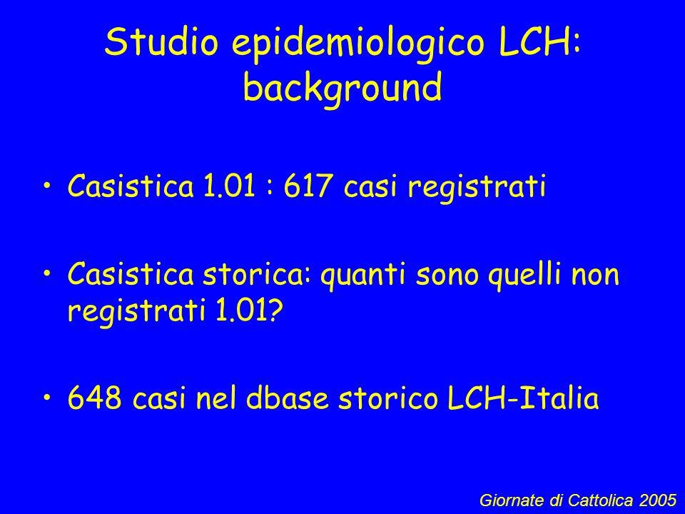Studio epidemiologico LCH: background