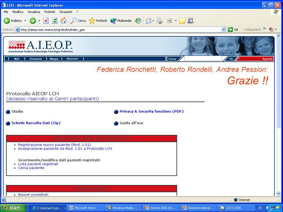 Federica Ronchetti, Roberto Rondelli, Andrea Pession: Grazie !!