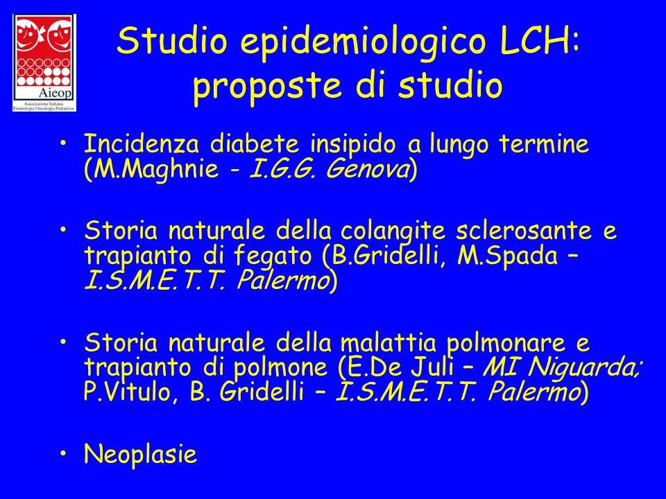 Studio epidemiologico LCH: proposte di studio