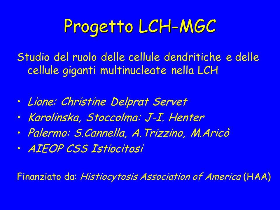 Progetto LCH-MGCStudio del ruolo delle cellule dendritiche e delle cellule giganti multinucleate nella LCH.