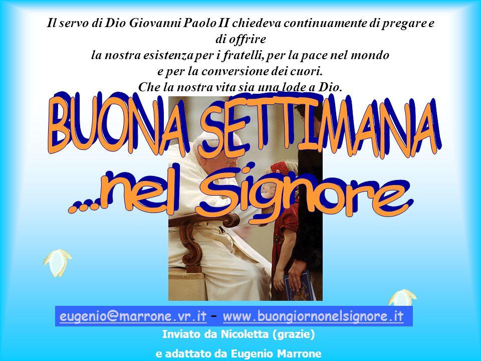 Inviato da Nicoletta (grazie) e adattato da Eugenio Marrone
