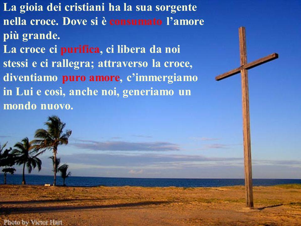 La gioia dei cristiani ha la sua sorgente nella croce