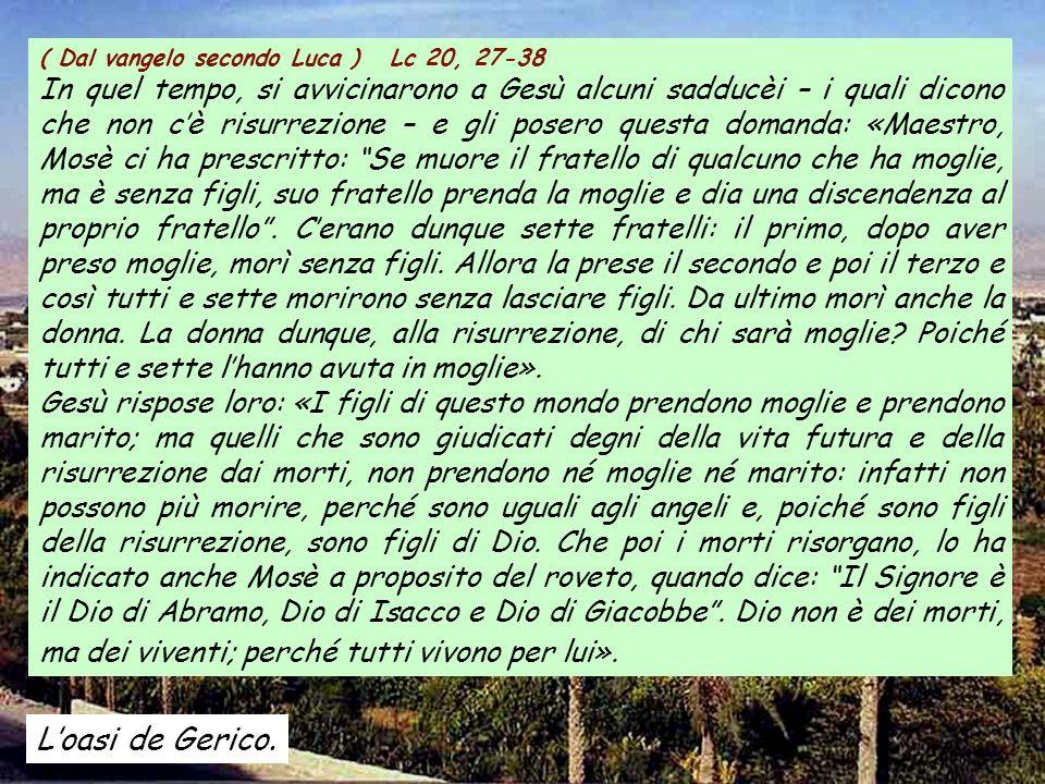 ( Dal vangelo secondo Luca ) Lc 20, 27-38