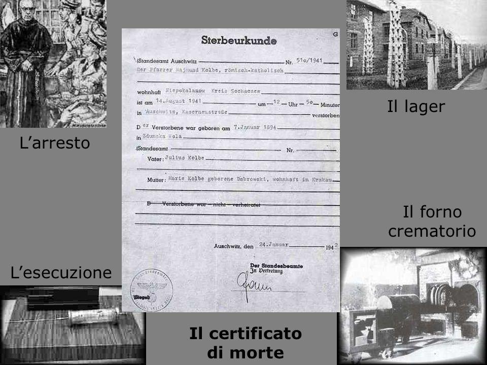 Il certificato di morte