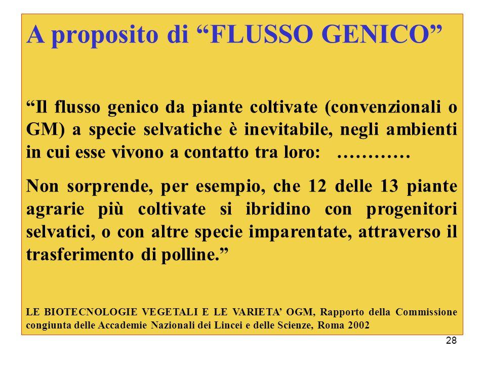 A proposito di FLUSSO GENICO