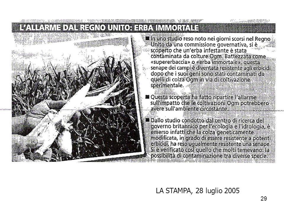 LA STAMPA, 28 luglio 2005