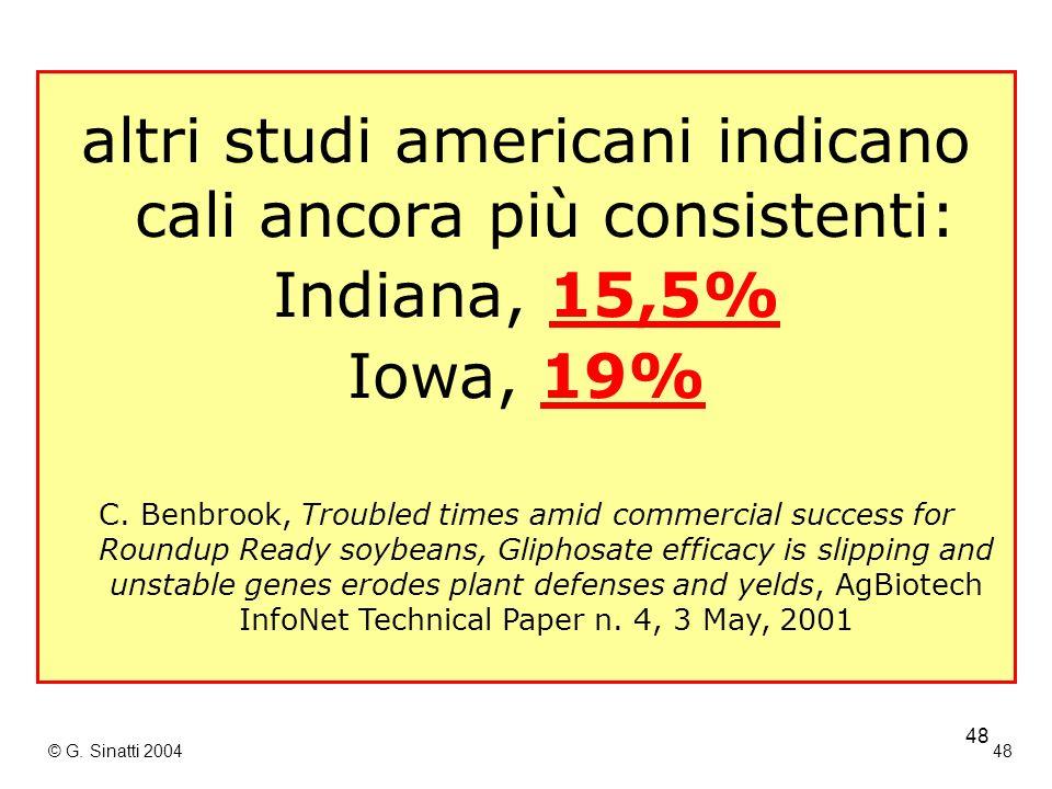 altri studi americani indicano cali ancora più consistenti: