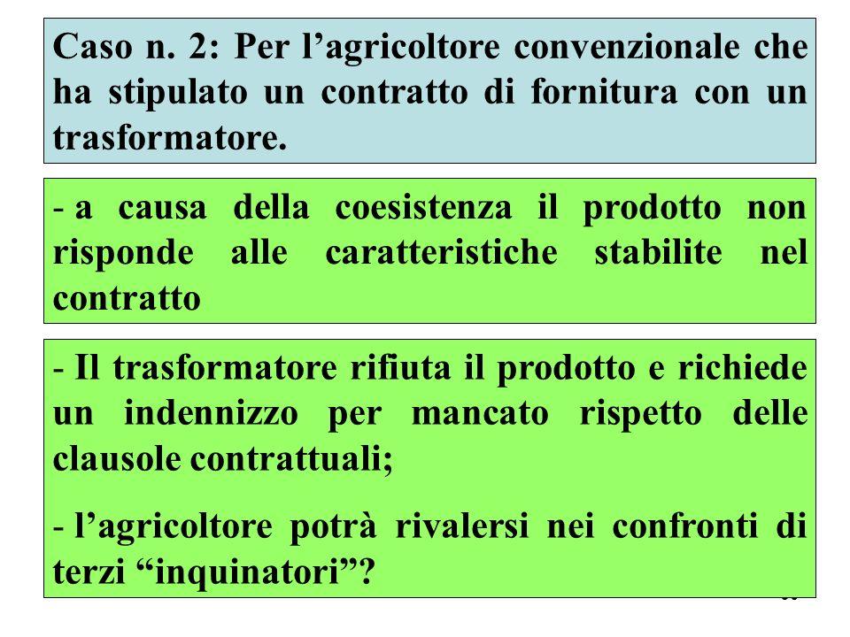 Caso n. 2: Per l'agricoltore convenzionale che ha stipulato un contratto di fornitura con un trasformatore.