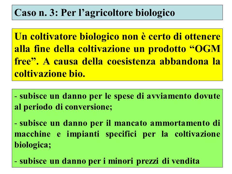 Caso n. 3: Per l'agricoltore biologico