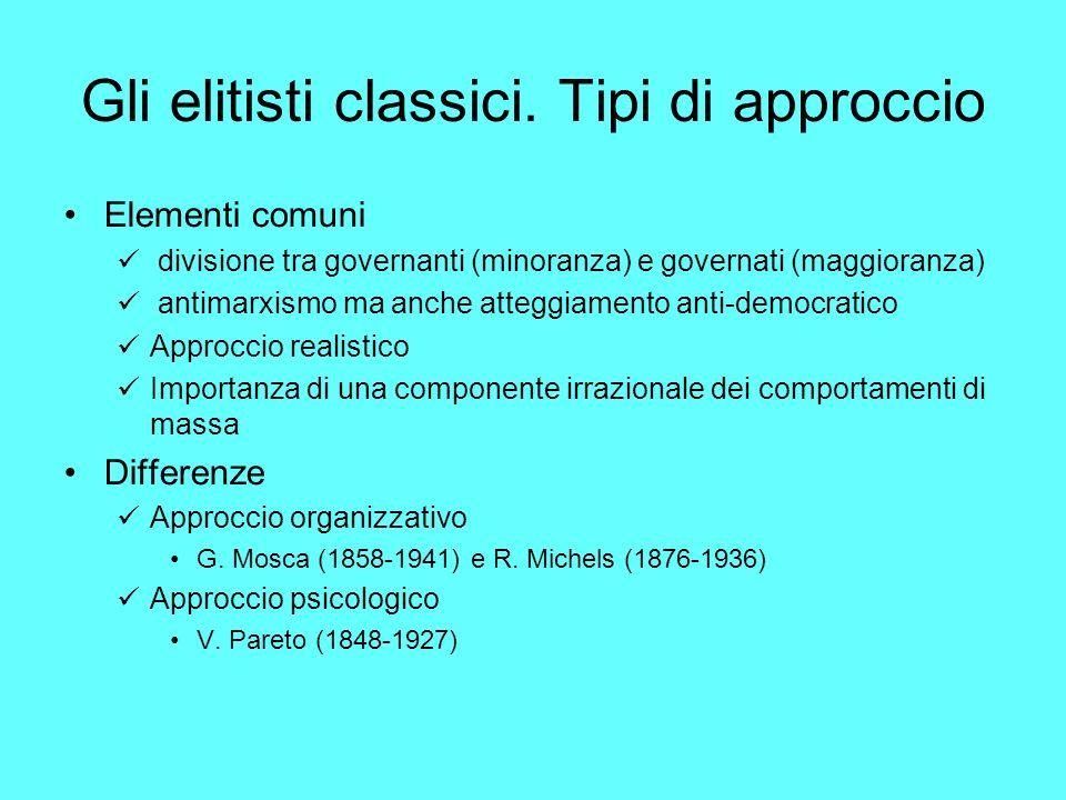 Gli elitisti classici. Tipi di approccio