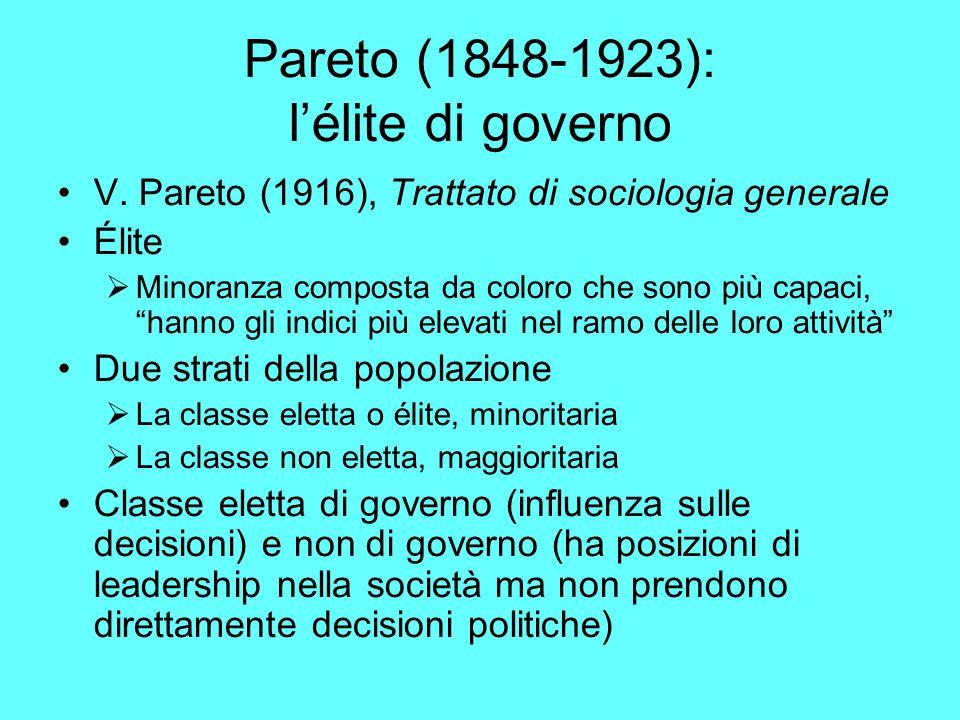 Pareto (1848-1923): l'élite di governo