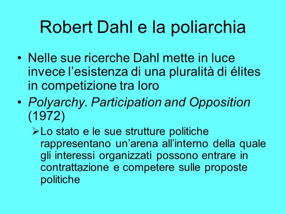 Robert Dahl e la poliarchia