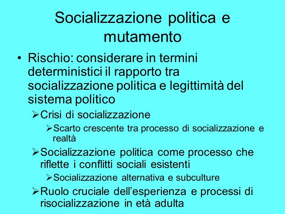 Socializzazione politica e mutamento