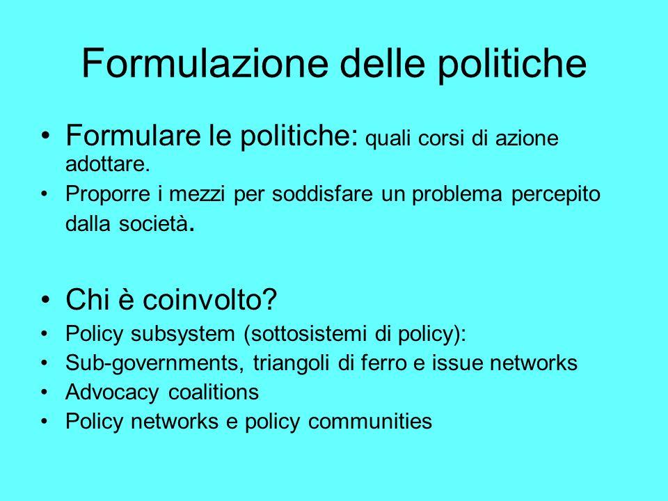Formulazione delle politiche