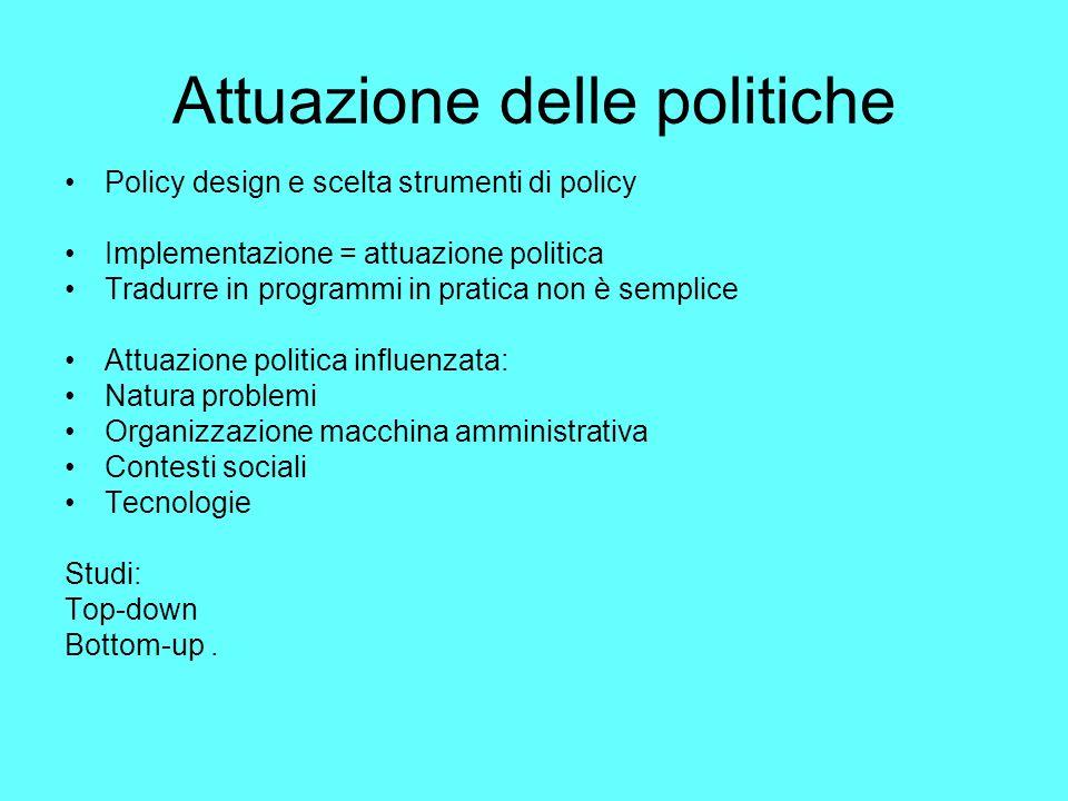 Attuazione delle politiche