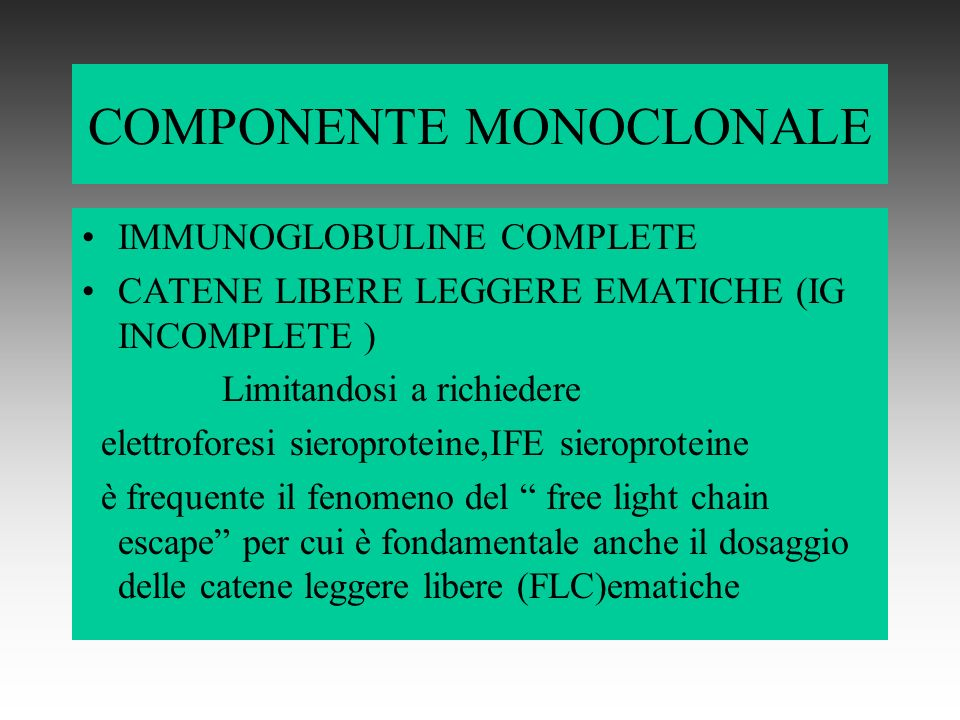 COMPONENTE MONOCLONALE