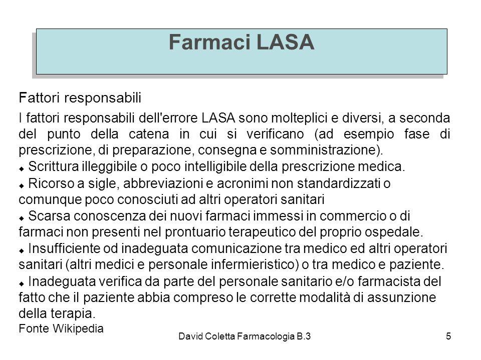 Farmaci LASA Fattori responsabili